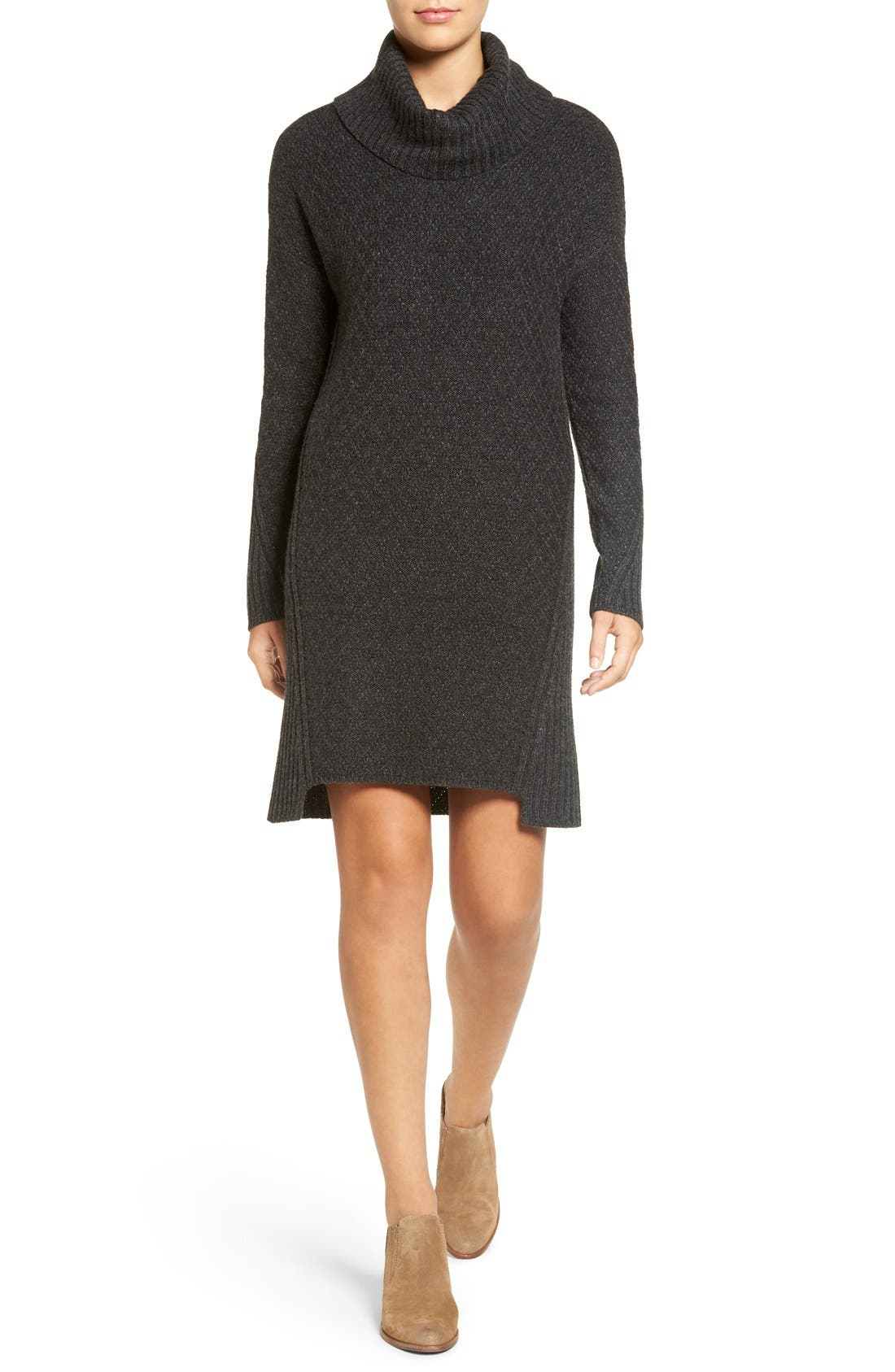 Main Image - Treasure&Bond Turtleneck Sweater Dress