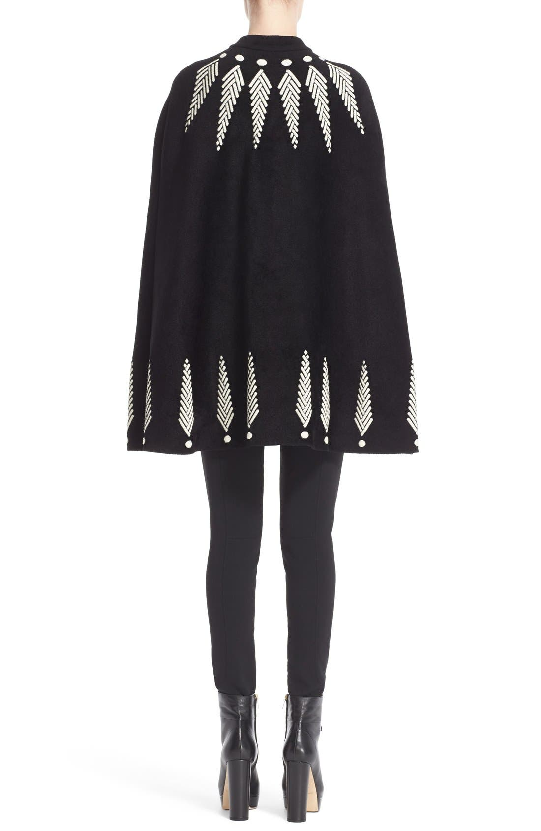 Alternate Image 2  - Alexander McQueen Feather Knit Cape