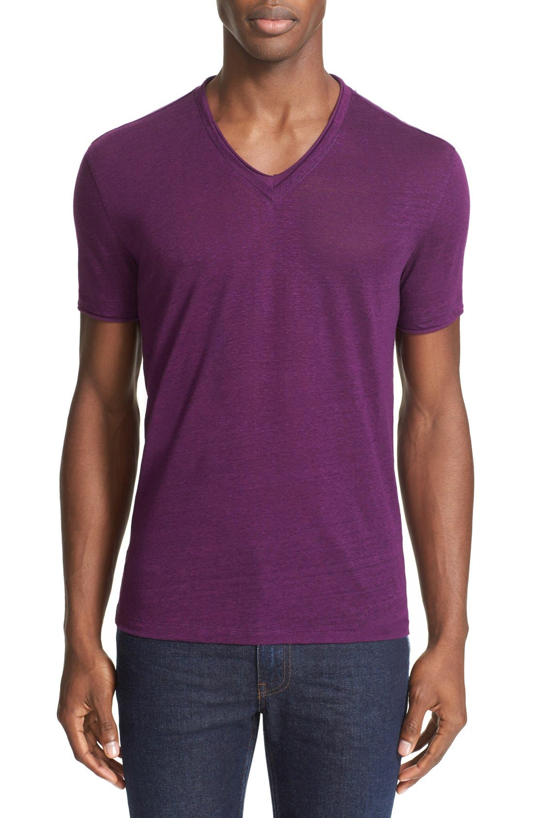 JOHN VARVATOS COLLECTION Linen T-Shirt