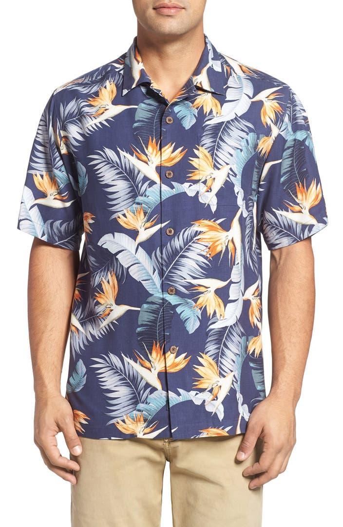Tommy bahama majestic flora silk camp shirt big tall for Tommy bahama florida shirt