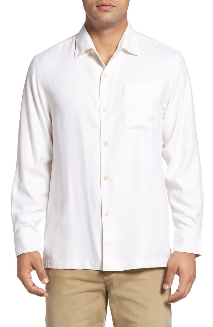 Tommy bahama catalina twill classic fit silk camp shirt for Do tommy bahama shirts run big