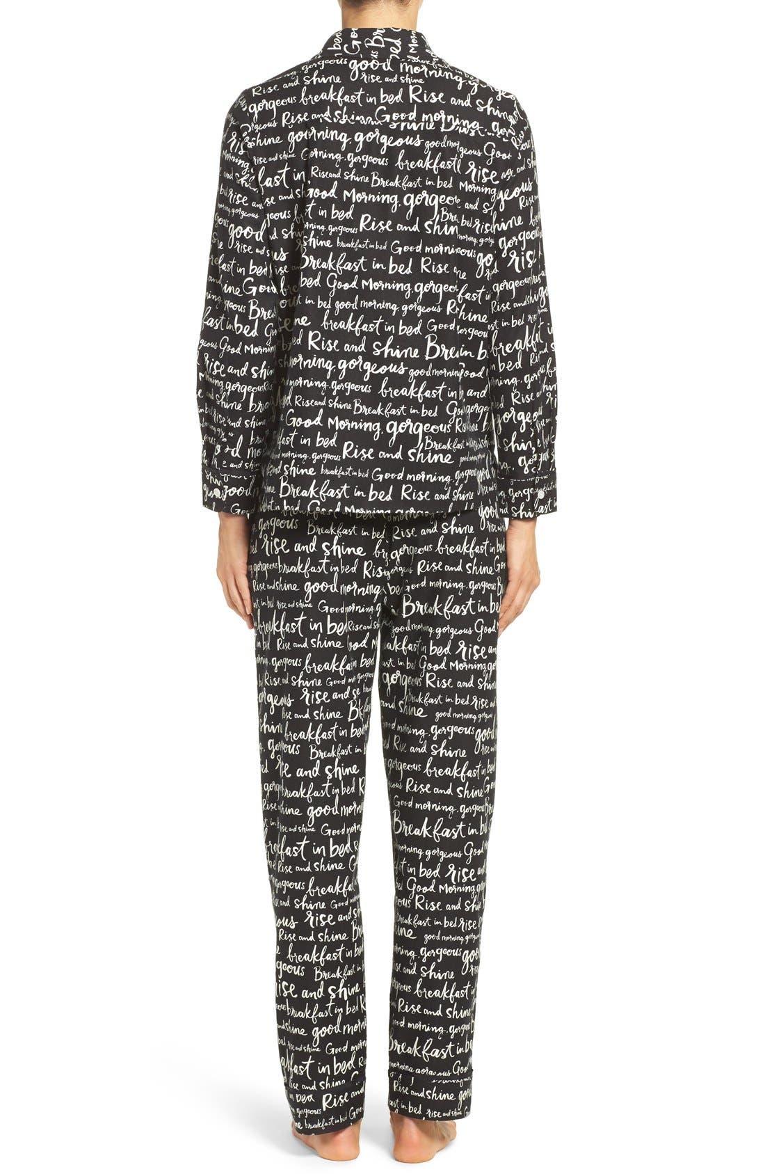 Alternate Image 3  - kate spade new york flannel pajamas