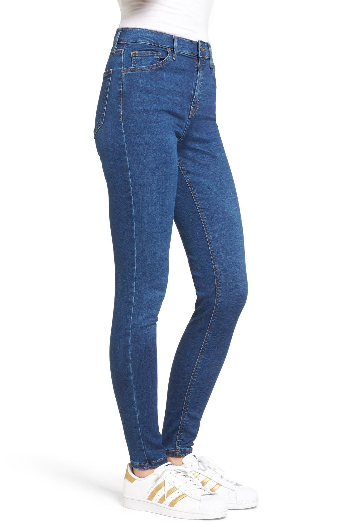 Alternate Image 4  - Topshop Jamie High Waist Ankle Skinny Jeans