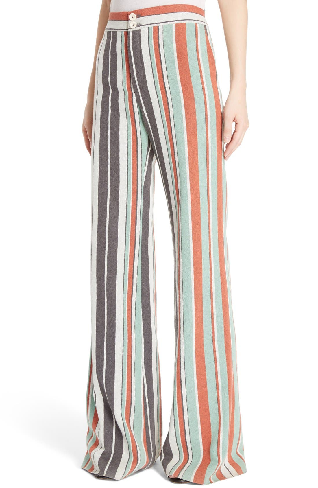 Alternate Image 4  - Chloé Mixed Stripe Wide Leg Pants
