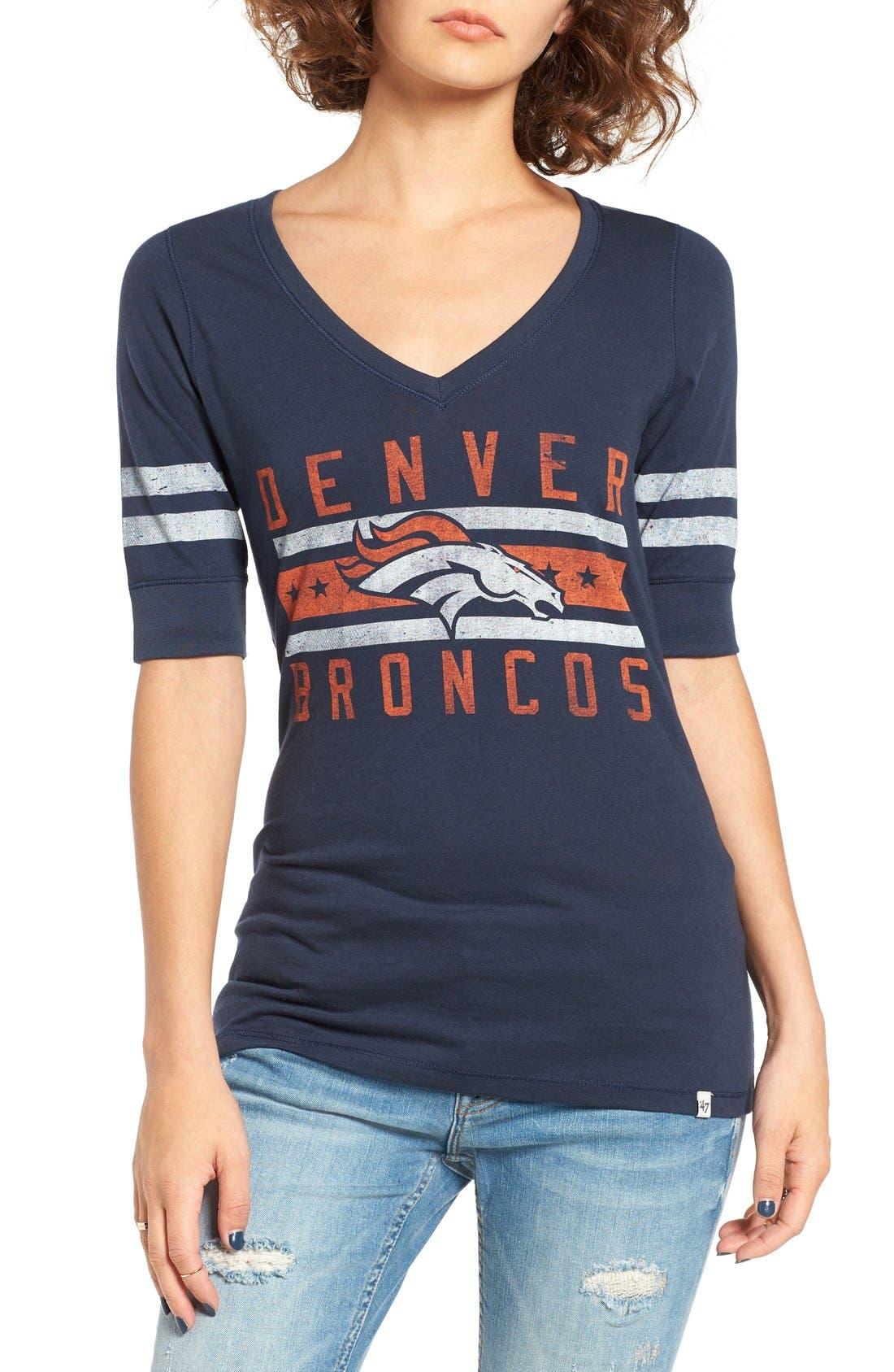 Alternate Image 1 Selected - 47 Brand 'Denver Broncos - Flanker Backer' Graphic Tee