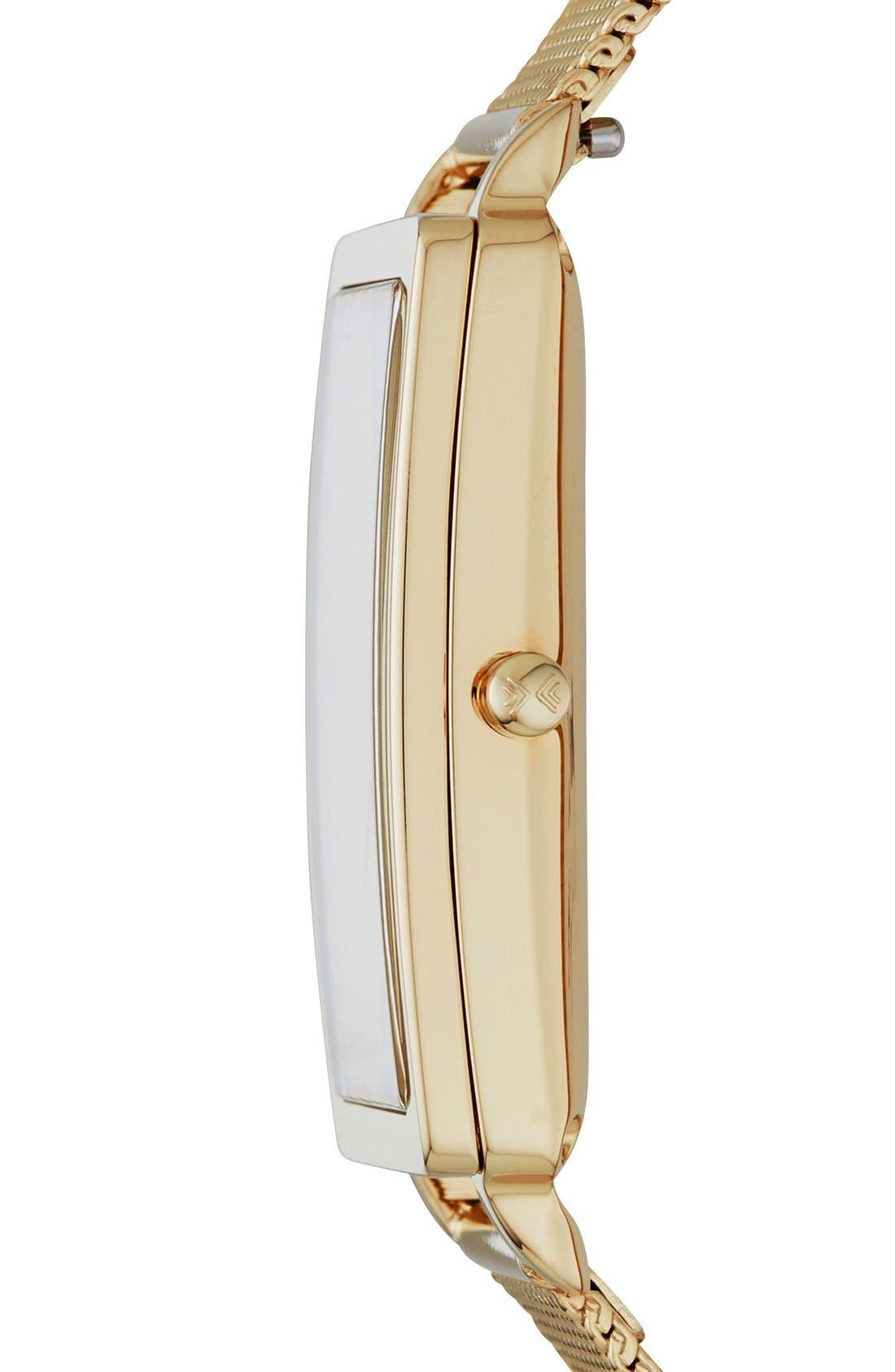 Alternate Image 2  - Skagen 'Hagen' Rectangle Mesh Strap Watch, 22mm x 43mm