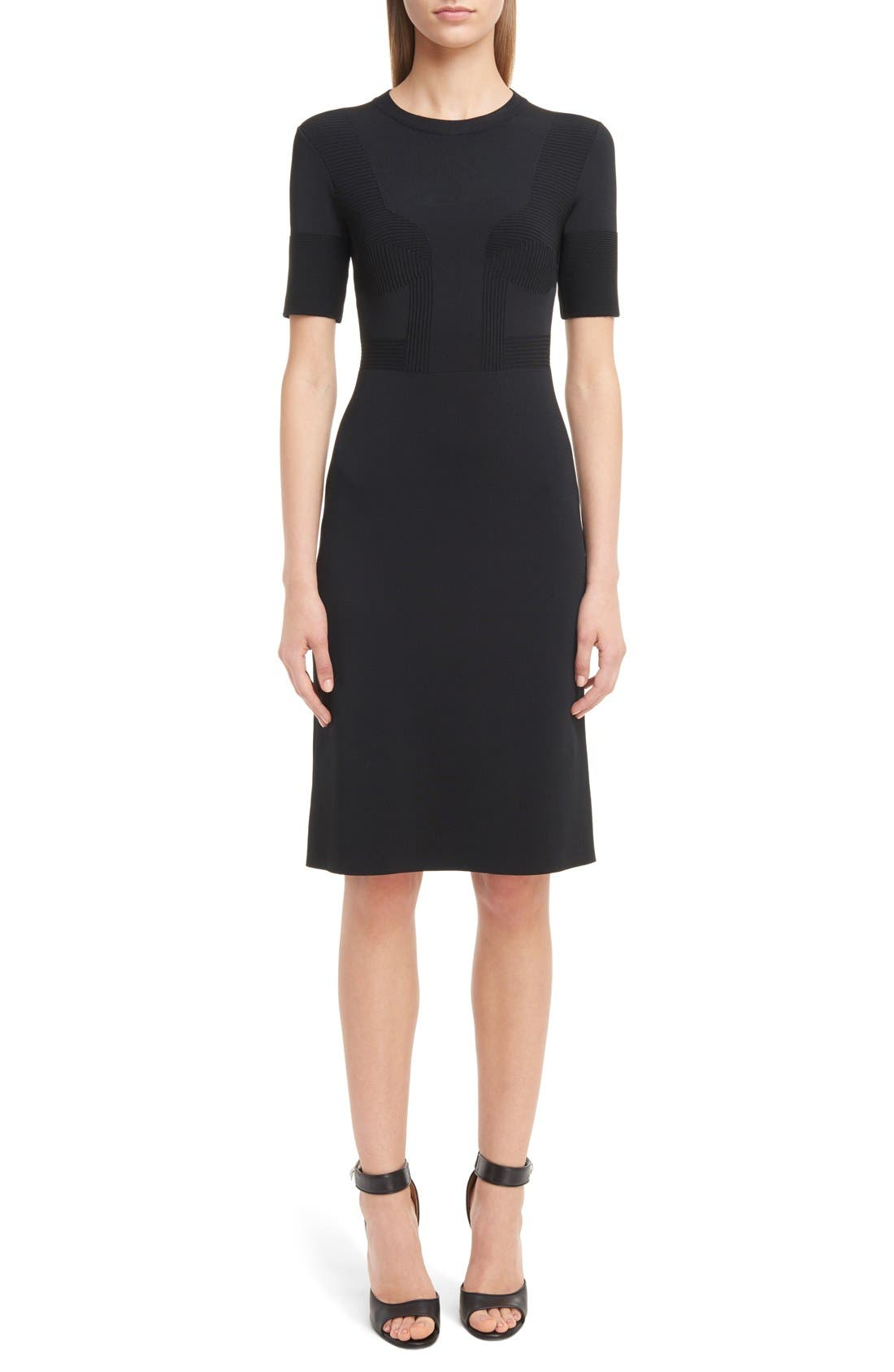 GIVENCHY Punto Milano Knit Bustier Dress