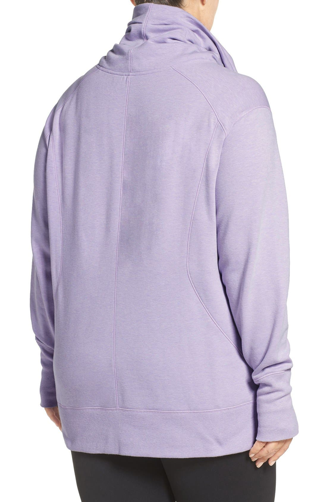 Alternate Image 2  - Zella 'Frosty' Asymmetrical Zip Pullover (Plus Size)