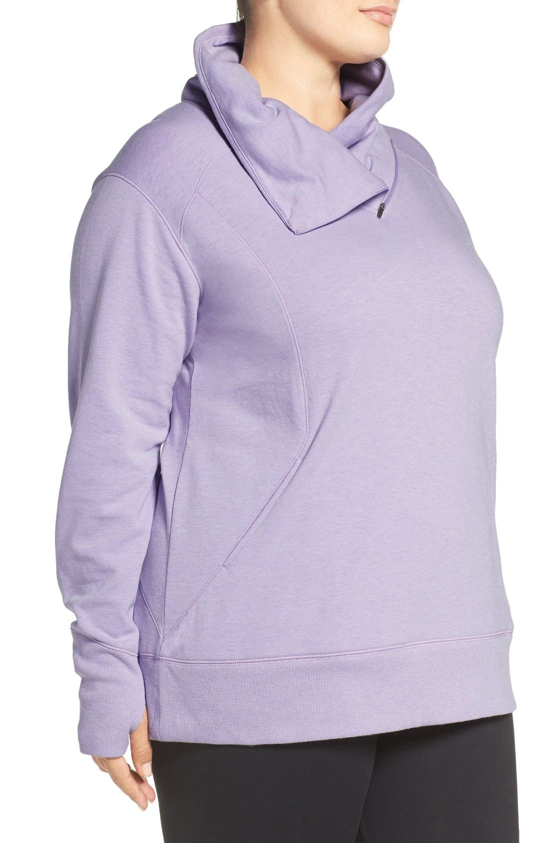 Alternate Image 3  - Zella 'Frosty' Asymmetrical Zip Pullover (Plus Size)