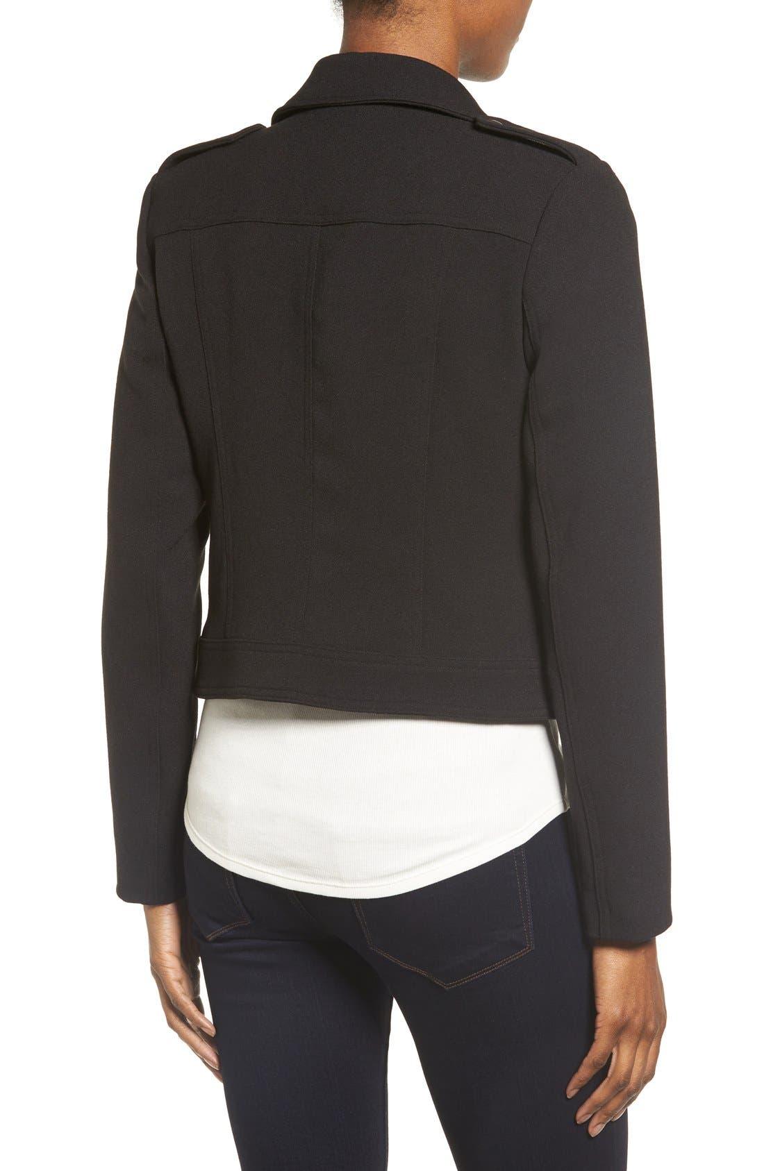Alternate Image 2  - Catherine Catherine Malandrino Knit Moto Jacket