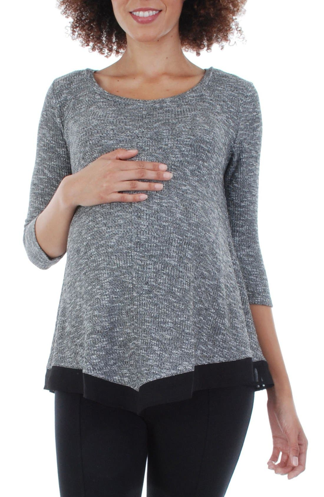 Everly Grey Regina Maternity Swing Top