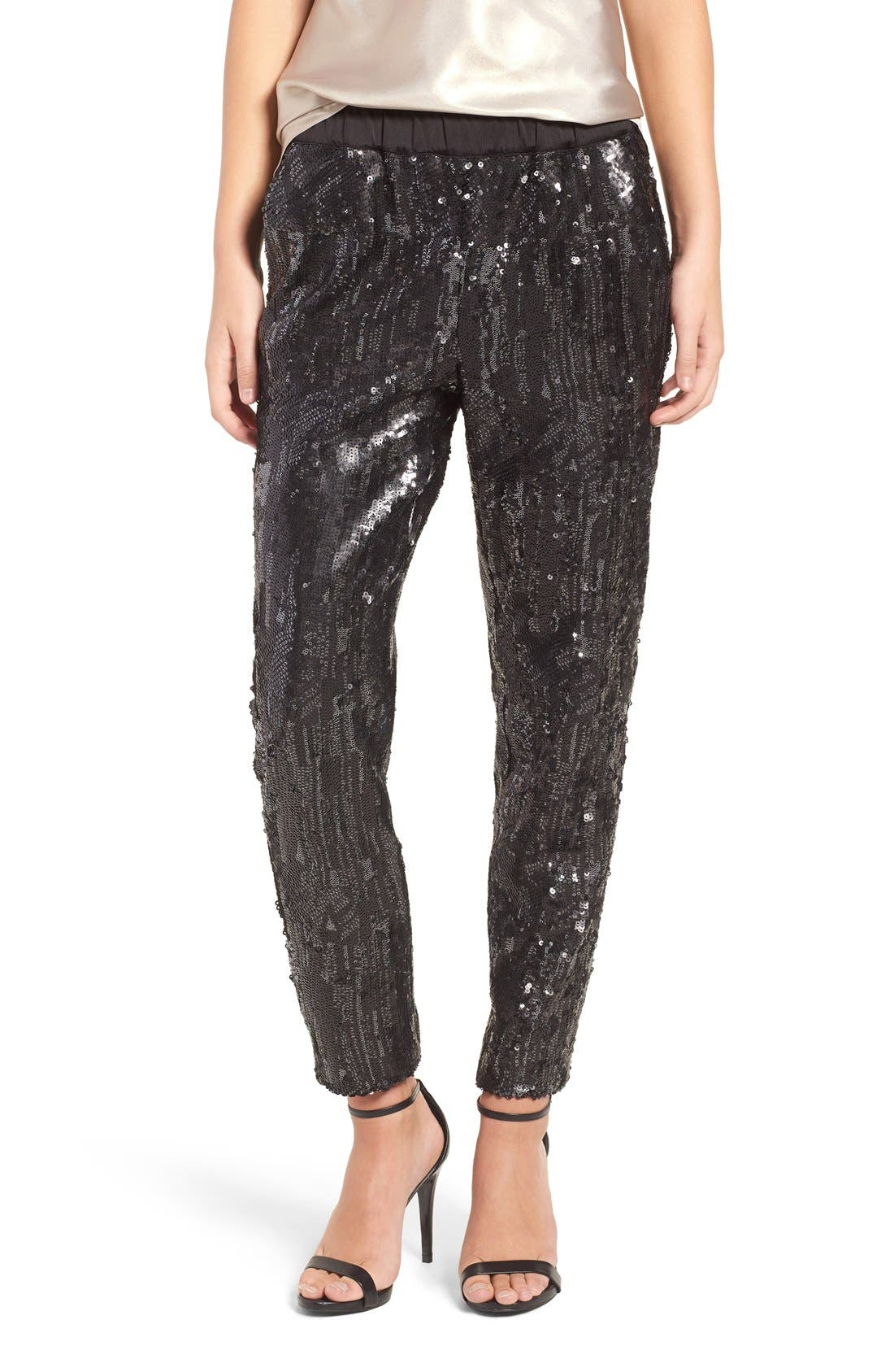 Alternate Image 1 Selected - Trouvé Shay Sequin Pants