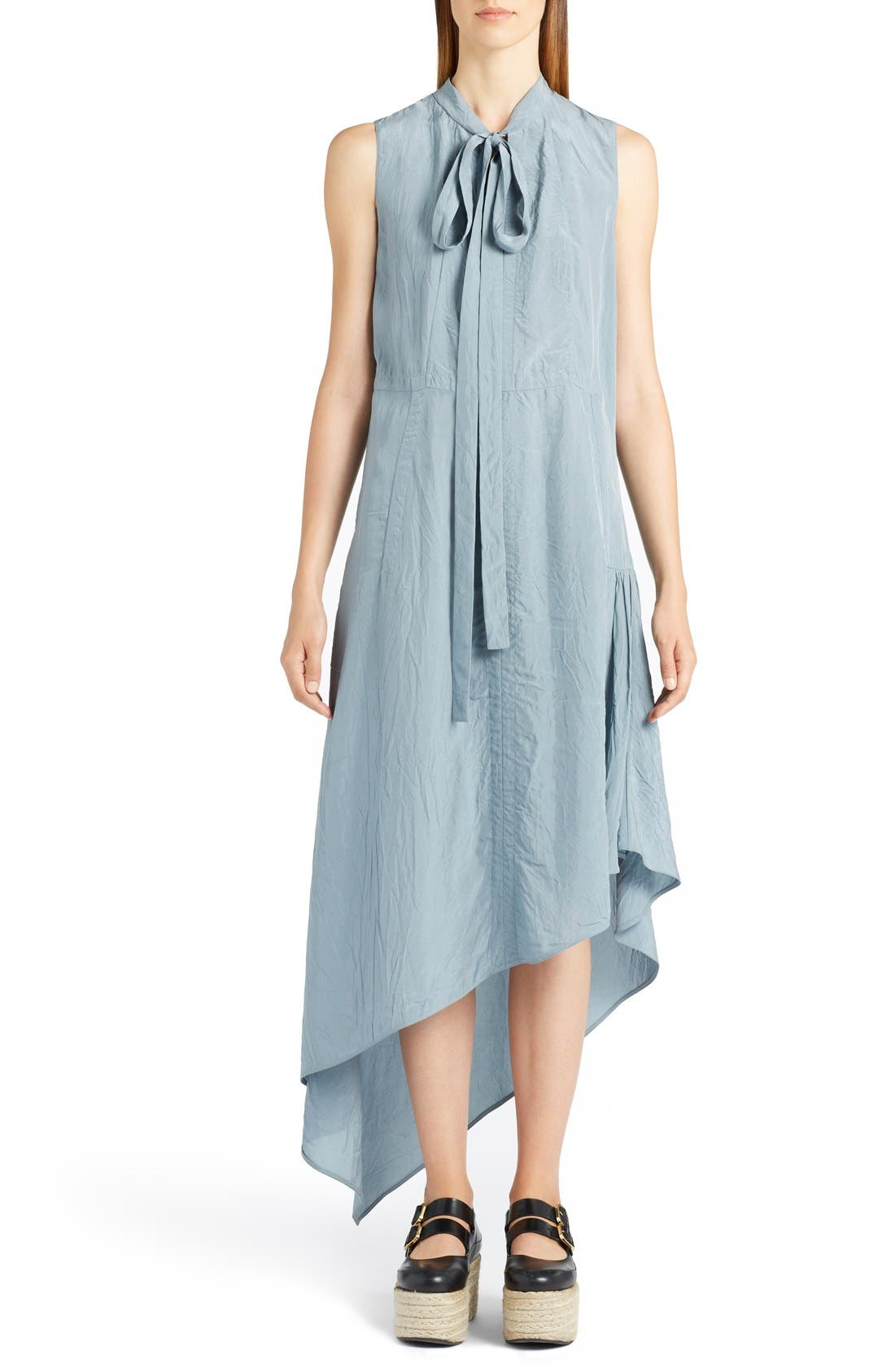MARNI Tie Neck Asymmetrical Dress