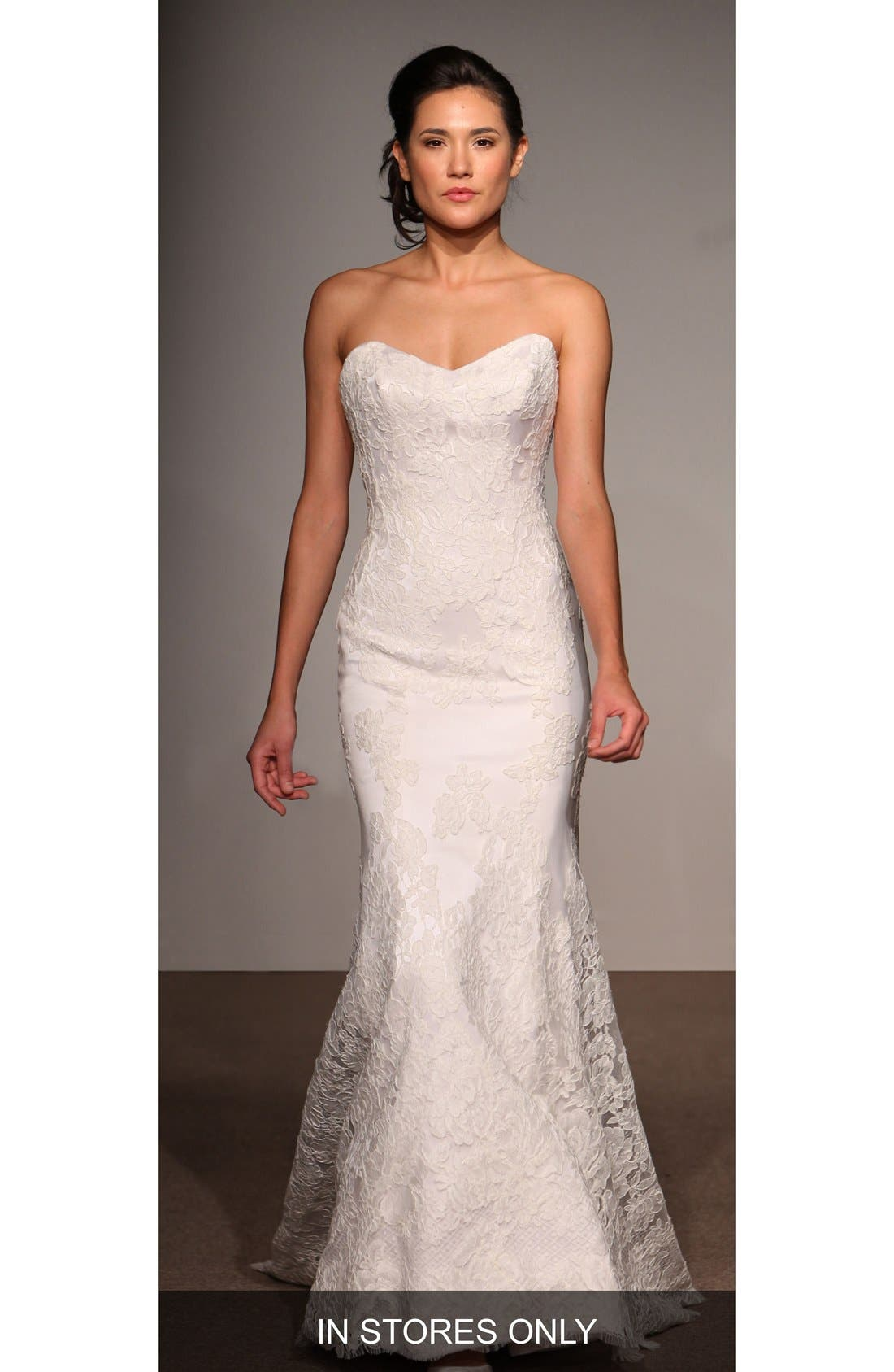 ANNA MAIER COUTURE Lea Strapless Lace Trumpet Gown