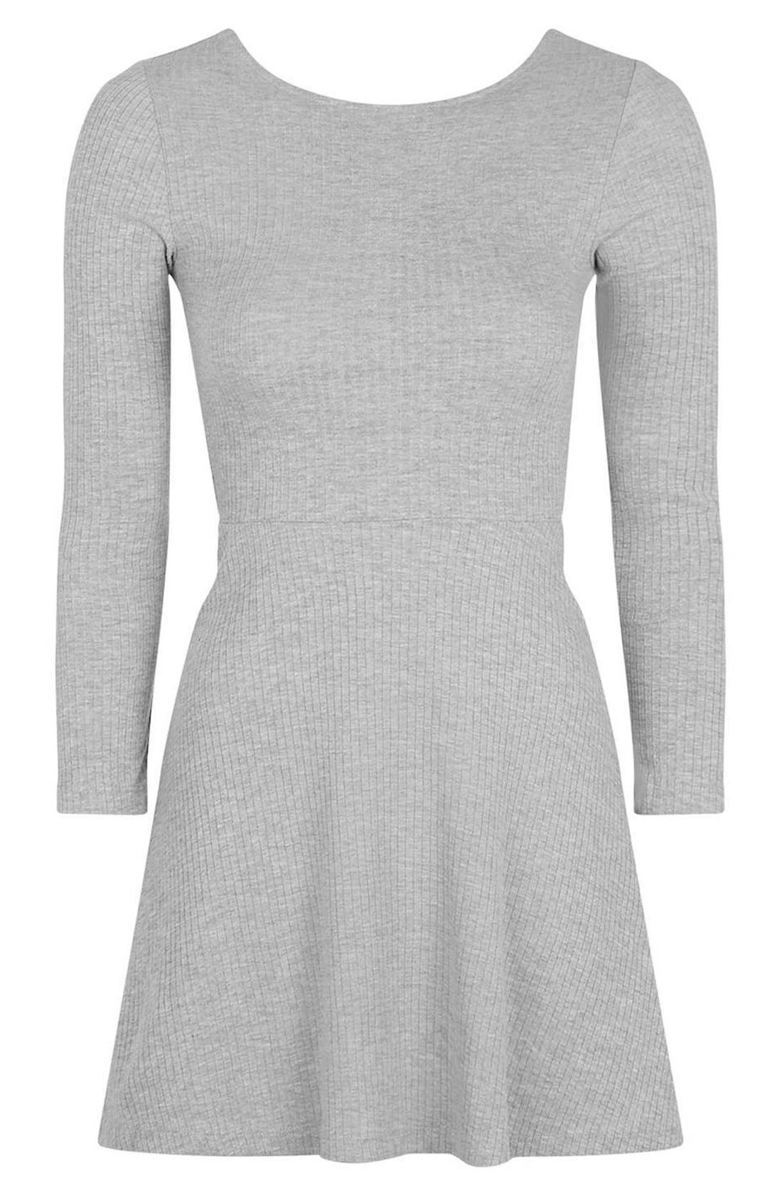 Alternate Image 4  - Topshop Lace-Up Back Skater Dress