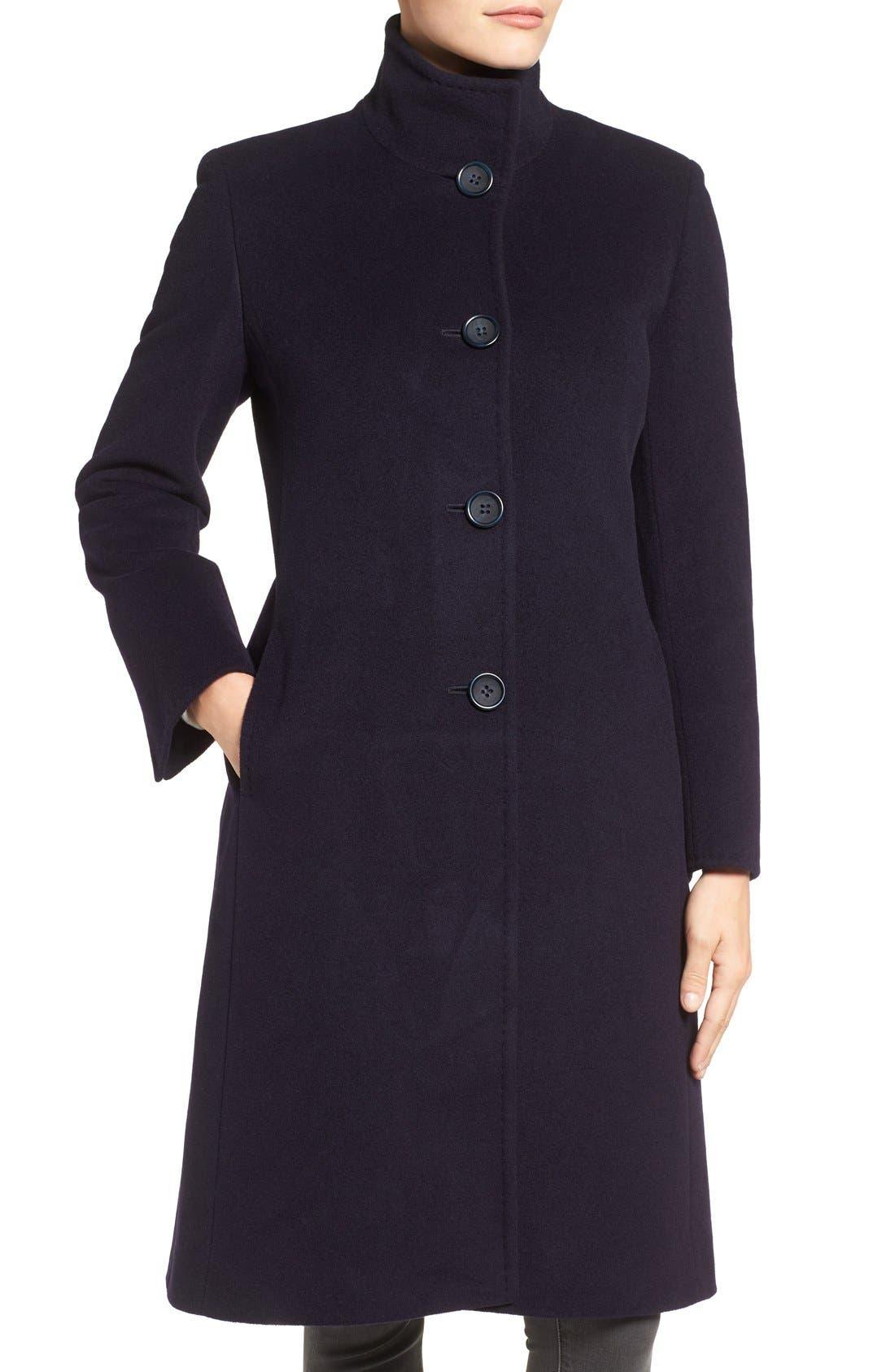Alternate Image 4  - Cinzia Rocca Icons Stand Collar Wool Blend Walking Coat
