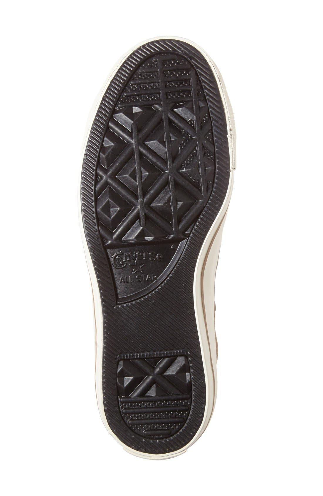 Alternate Image 4  - Converse Chuck Taylor® All Star® Faux Shearling Lined Low Top Sneaker (Women)