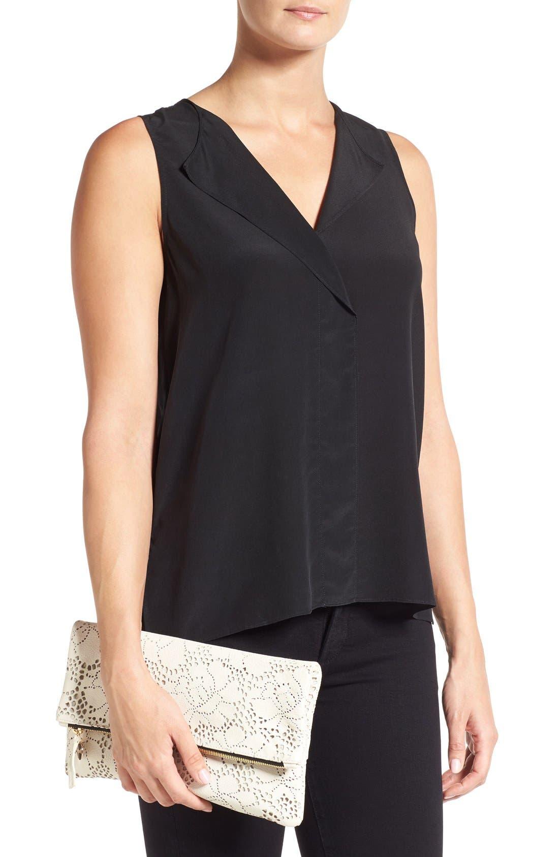 Alternate Image 2  - Clare V. Leather Lace Foldover Clutch