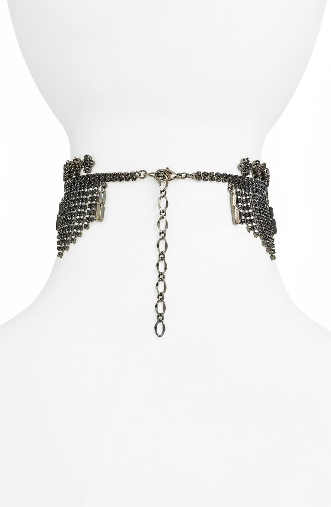 Alternate Image 2  - Cristabelle Fringe Choker Necklace