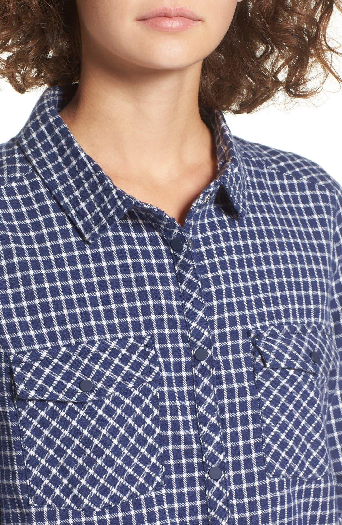 Alternate Image 4  - Roxy Squary Cool Plaid Flannel Shirt