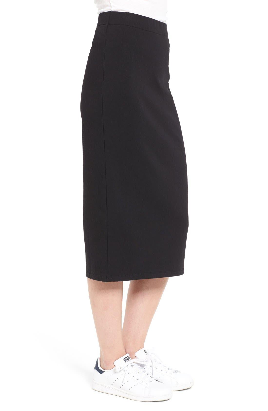 Alternate Image 3  - James Perse Stretch Fleece Pencil Skirt