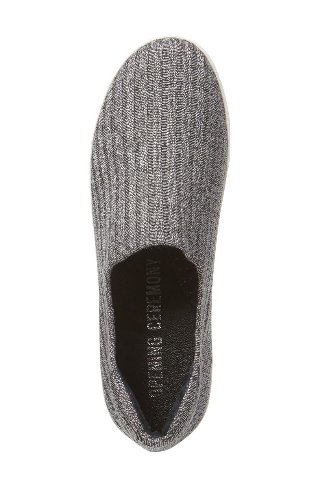 Alternate Image 3  - Opening Ceremony Cici Ribbed Jersey Platform Sneaker (Women)