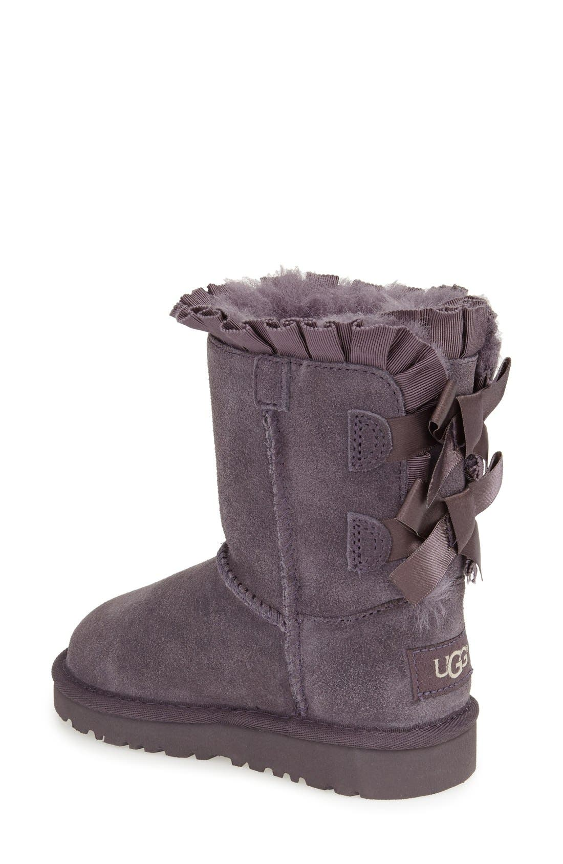 Alternate Image 2  - UGG® 'Bailey Bow Ruffles' Genuine Shearling Lined Boot (Walker, Toddler & Little Kid)