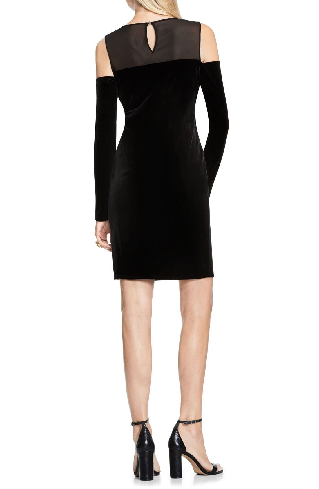Alternate Image 2  - Vince Camuto Velvet Cold Shoulder Dress