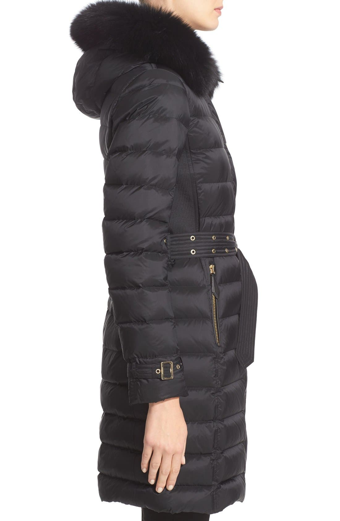 Alternate Image 5  - Burberry Ashmoore Down Puffer with Genuine Fox Fur Trim