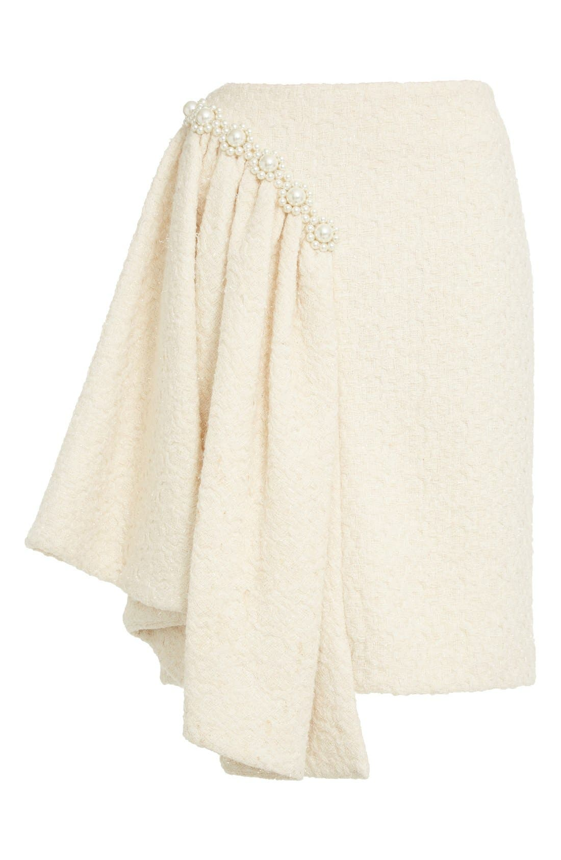 Alternate Image 4  - Simone Rocha Embellished Sparkle Tweed Skirt (Nordstrom Exclusive)