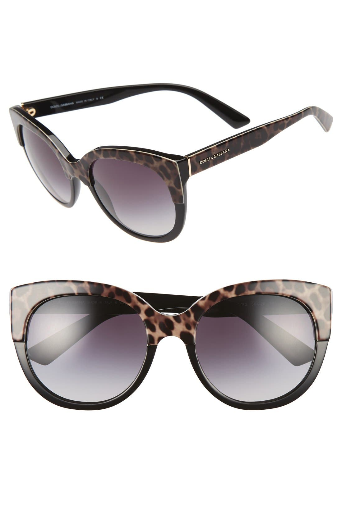 DOLCE&GABBANA 56mm Cat Eye Sunglasses