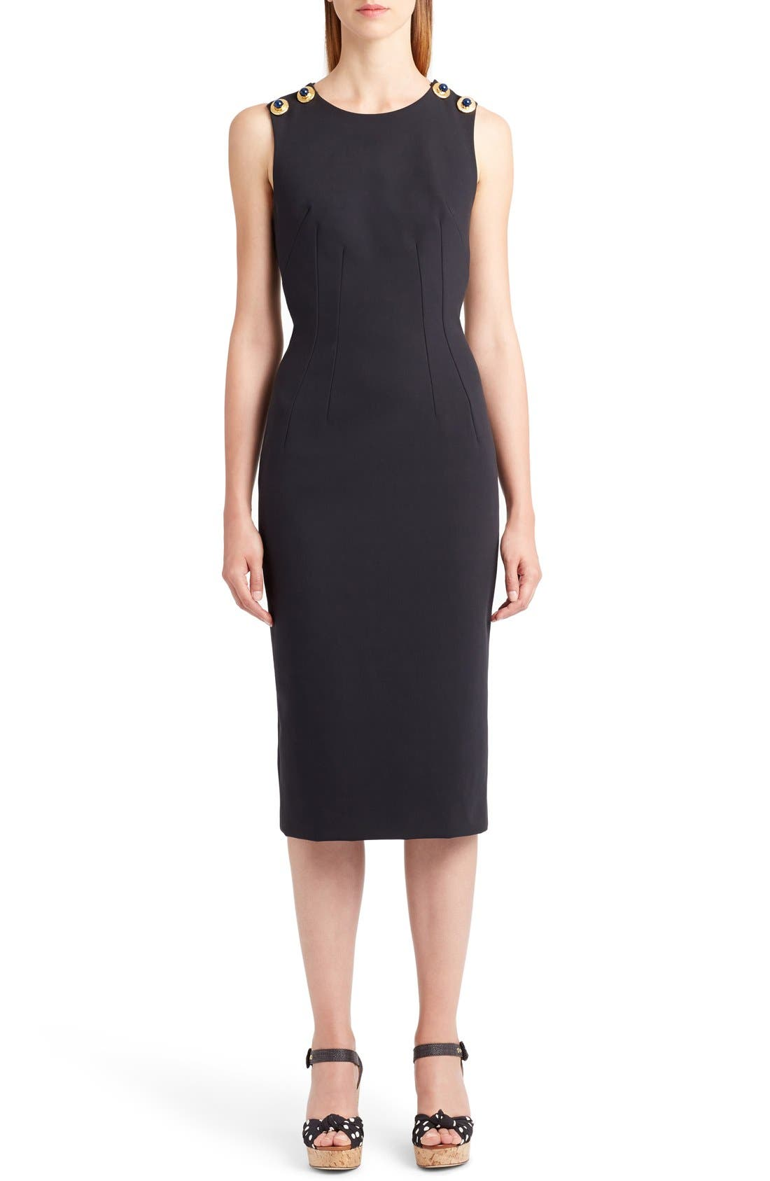 DOLCE&GABBANA Cross Back Sheath Dress