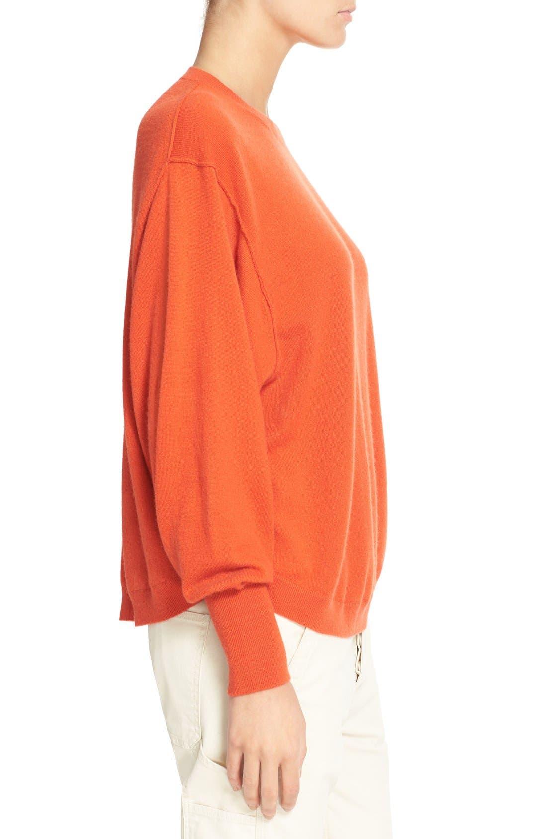 Alternate Image 3  - Vince Shirttail Cashmere Sweater