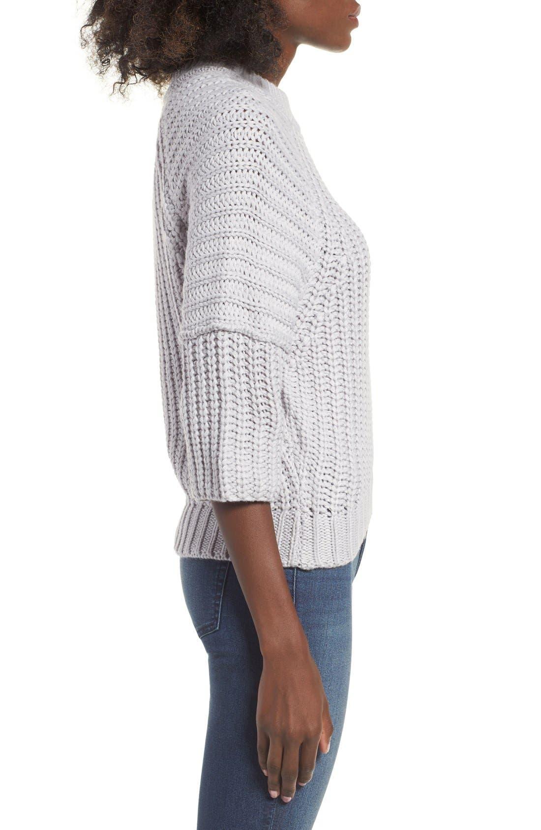 Alternate Image 3  - J.O.A. Rib Knit Sweater