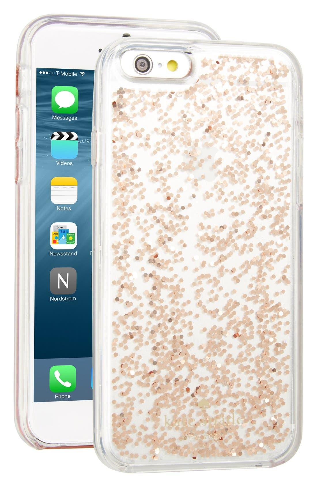 Main Image - kate spade new york glitter iPhone case (6/6s/6 Plus & 6s Plus)