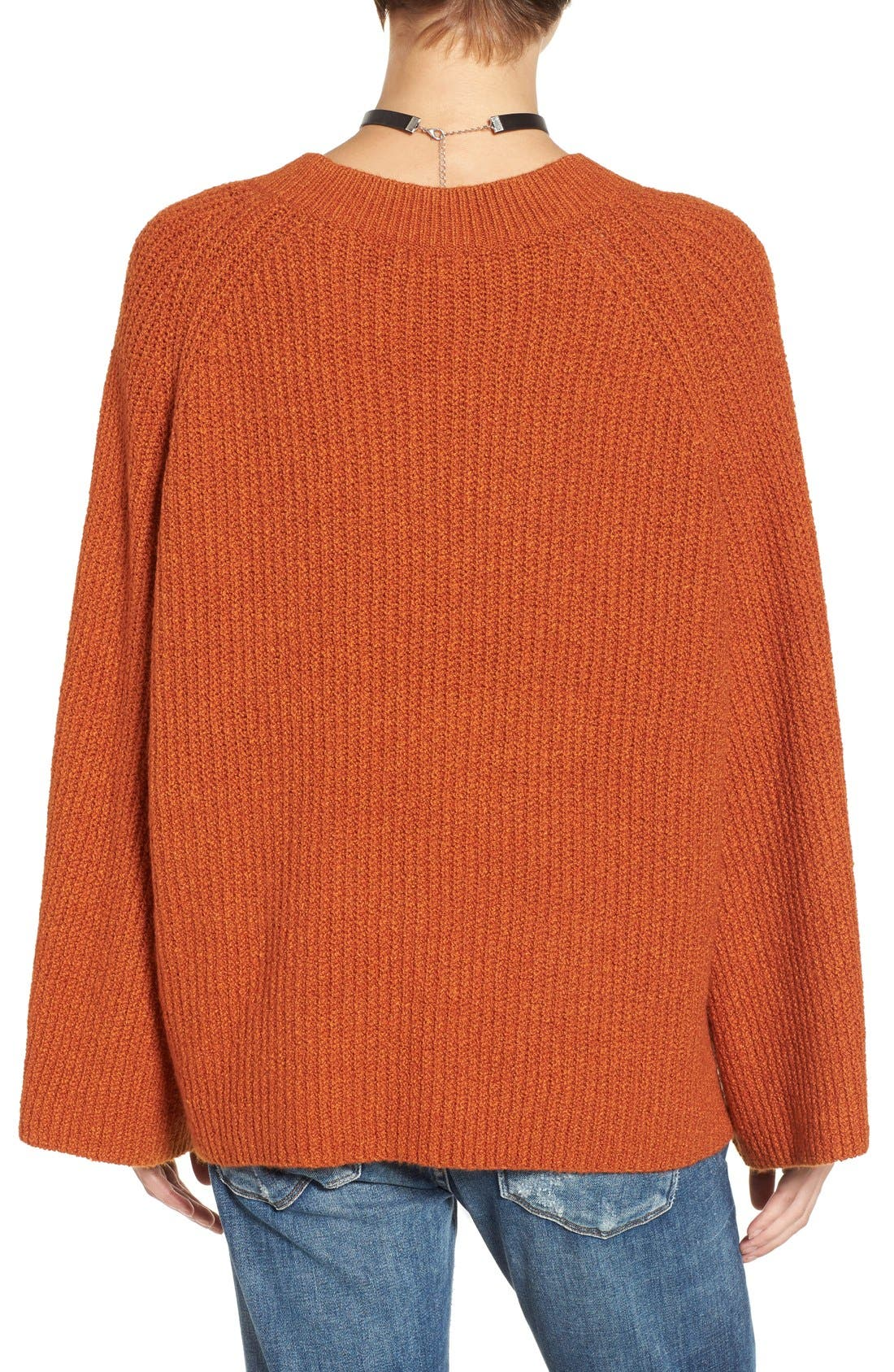 Alternate Image 2  - BP. Knit Bell Sleeve Pullover