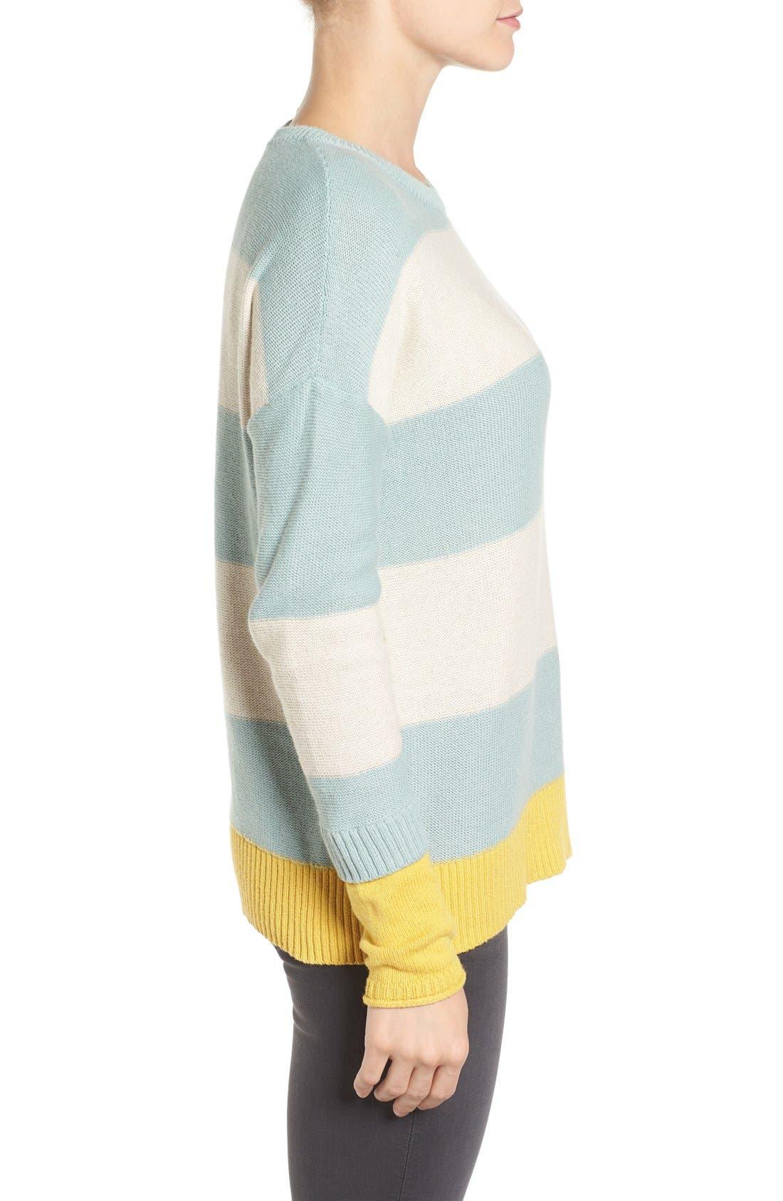 Alternate Image 3  - Caslon® Contrast Cuff Crewneck Sweater (Regular & Petite)
