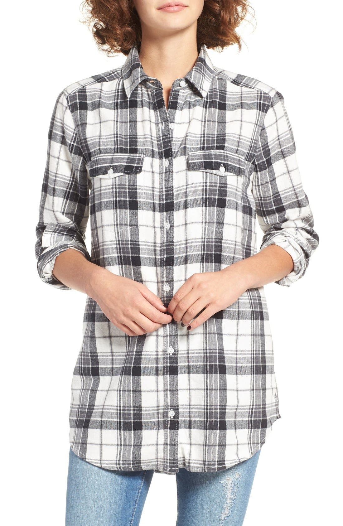 Alternate Image 1 Selected - BP. Plaid Flannel Shirt