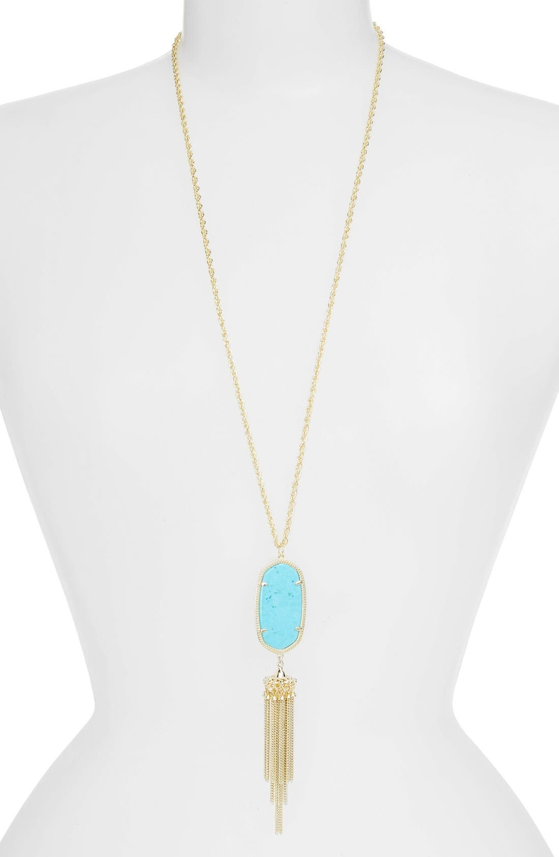 Alternate Image 1 Selected - Kendra Scott Rayne Stone Tassel Pendant Necklace