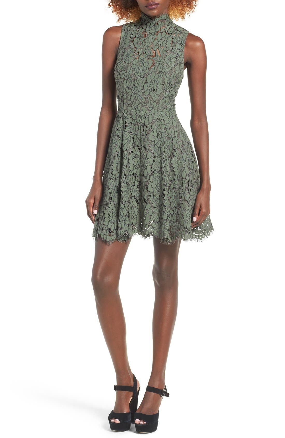 Alternate Image 1 Selected - Keepsake the Label Porcelain Lace Fit & Flare Dress