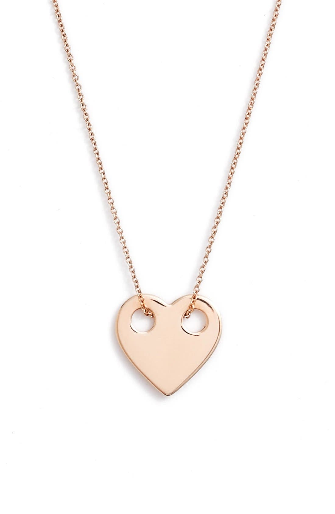 Alternate Image 1 Selected - ginette ny Mini Heart Pendant Necklace