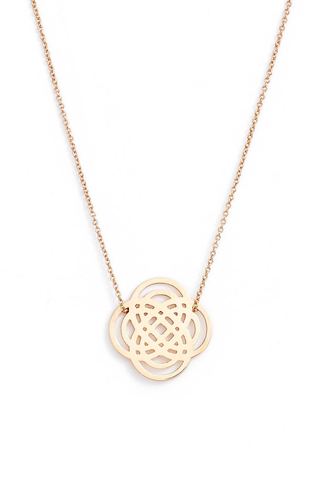 Alternate Image 1 Selected - ginette ny Mini Purity Pendant Necklace