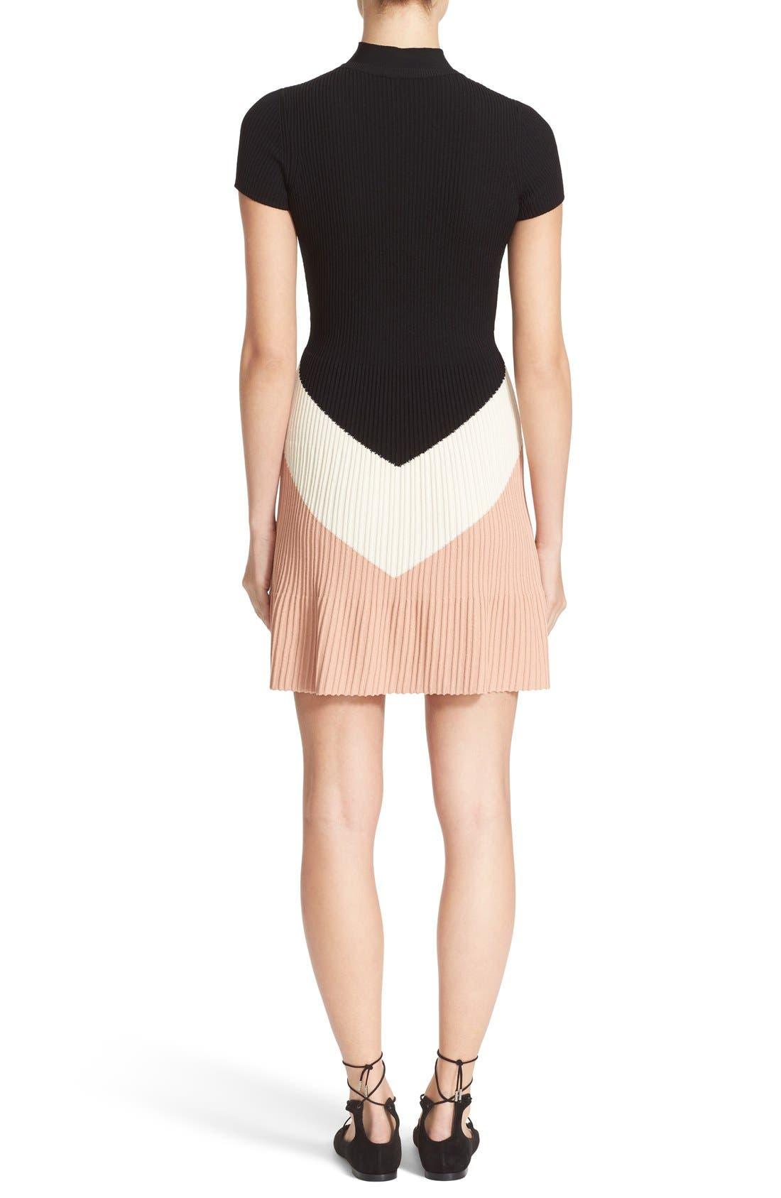 Alternate Image 2  - RED Valentino Rib Knit Sweater Dress