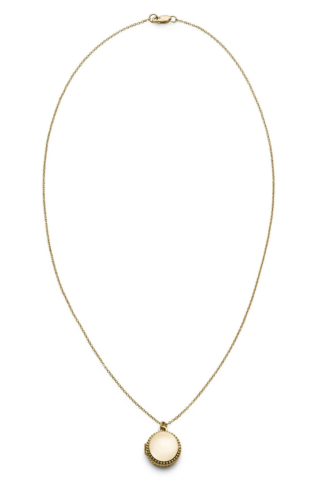 Alternate Image 1 Selected - Shinola Coin Edge Locket Necklace