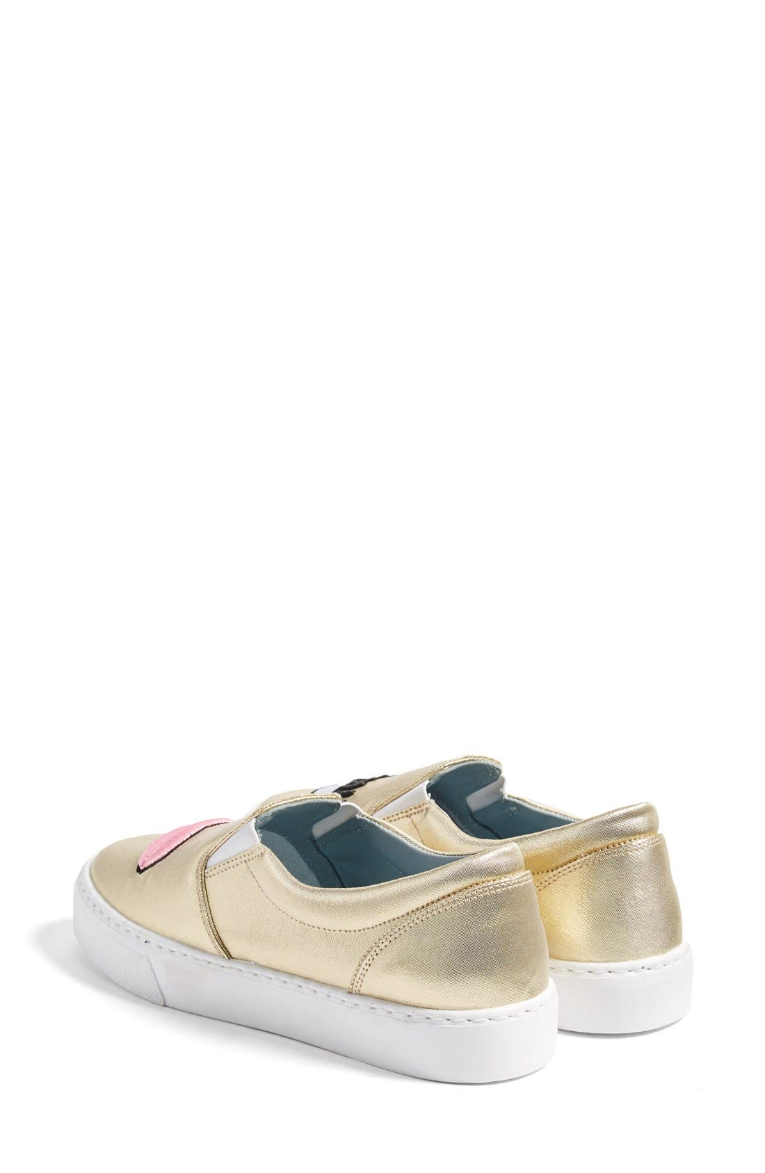 Alternate Image 3  - Chiara Ferragni Flirting Lips Slip-On Sneaker (Women)