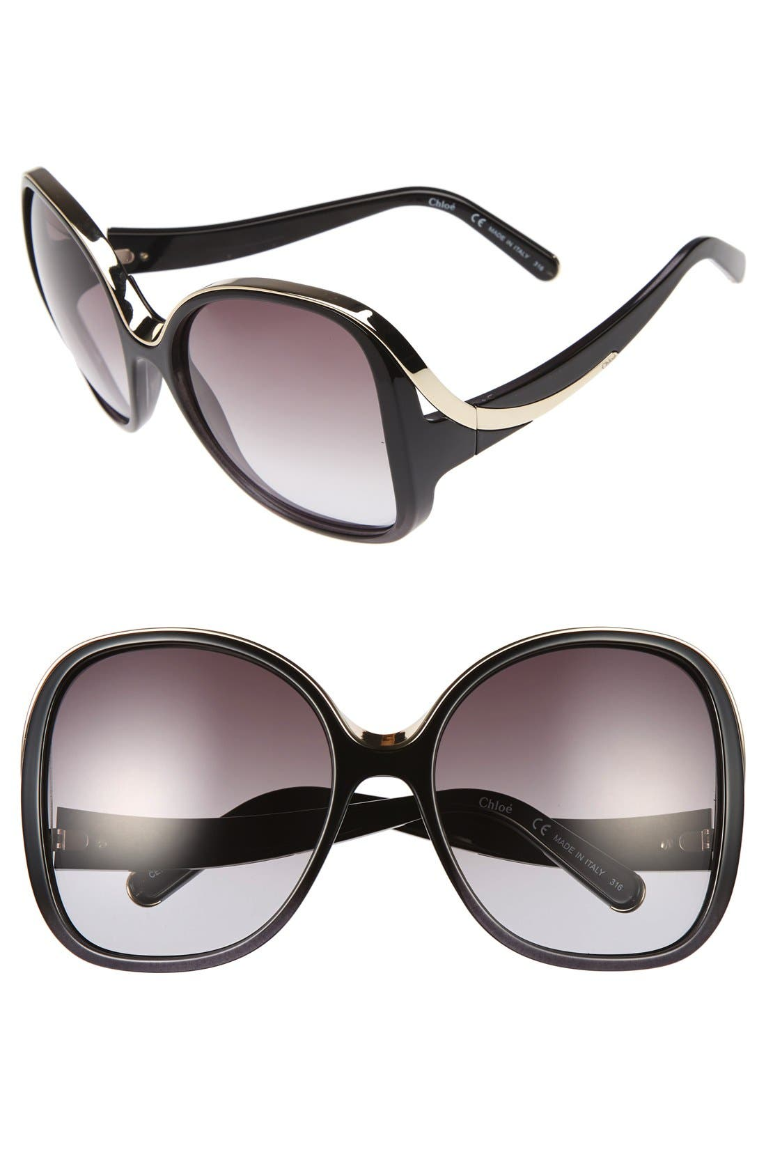 Chloé Mandy 59mm Square Sunglasses