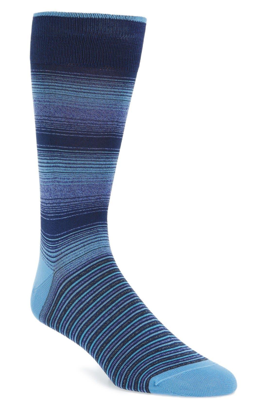 BUGATCHI 'Ombré Stripe' Socks