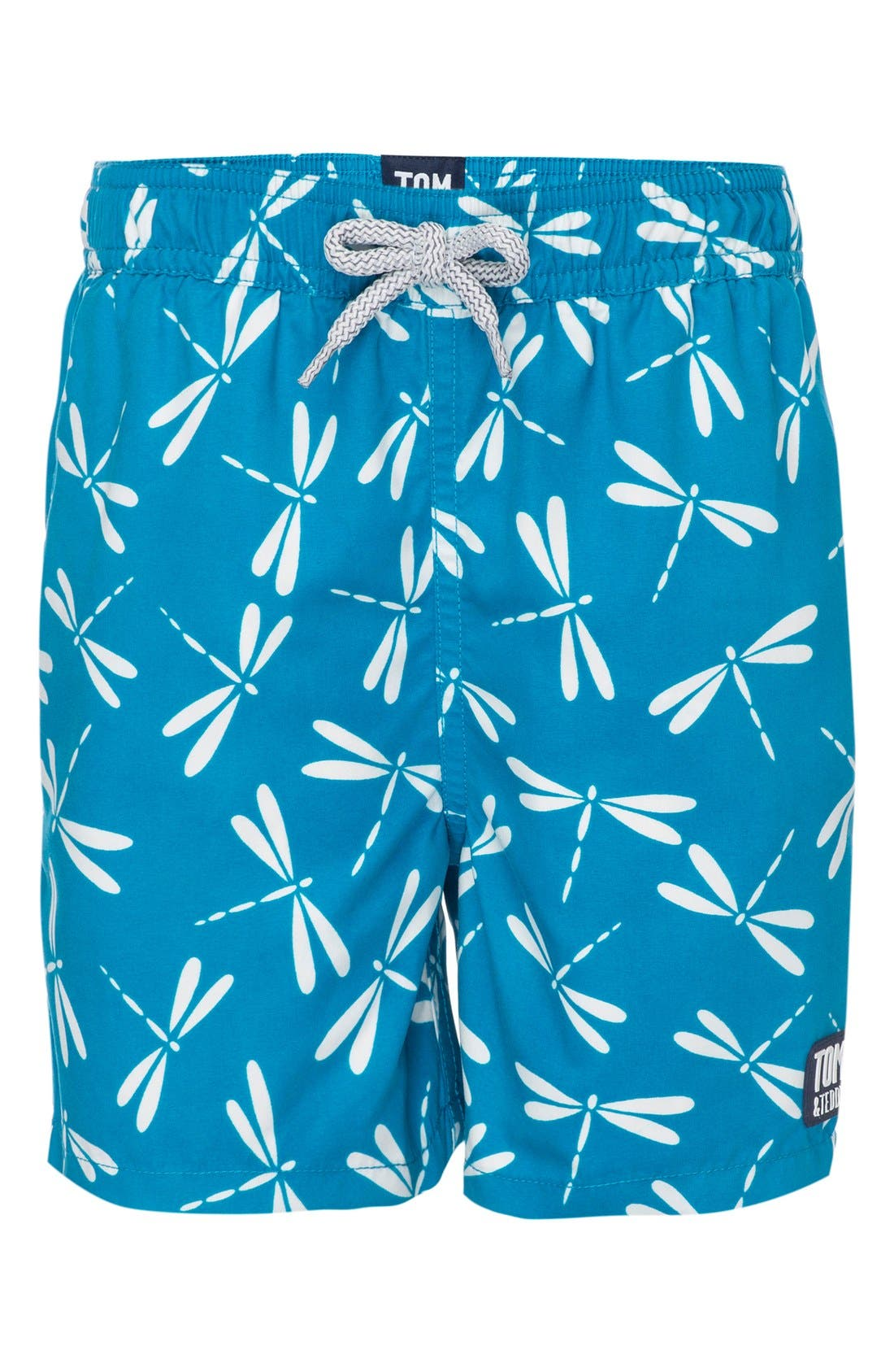 Tom & Teddy Dragonfly Swim Trunks (Toddler Boys, Little Boys & Big Boys)