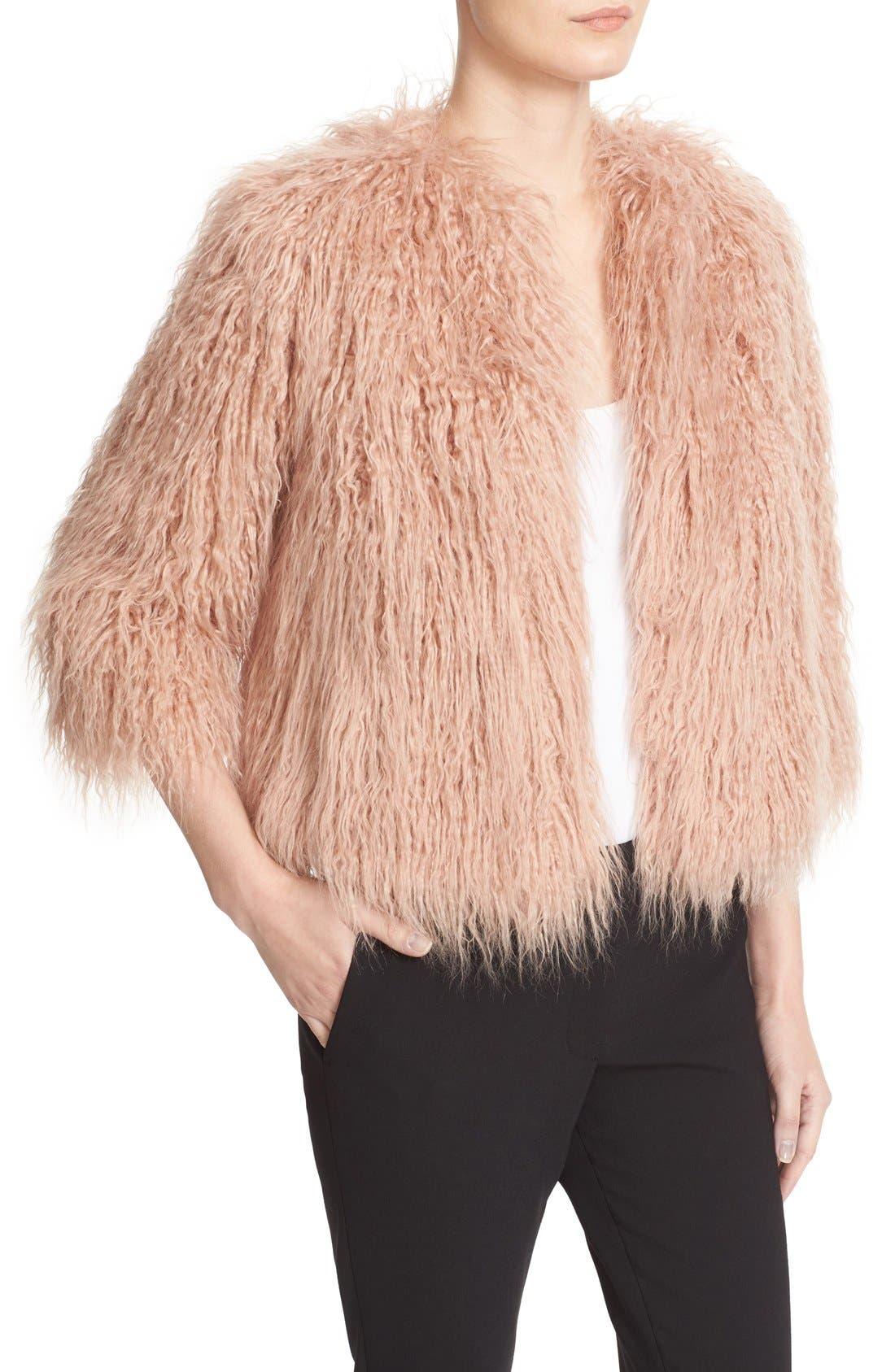 Alternate Image 5  - Theory Elstana 2 Faux Fur Crop Jacket