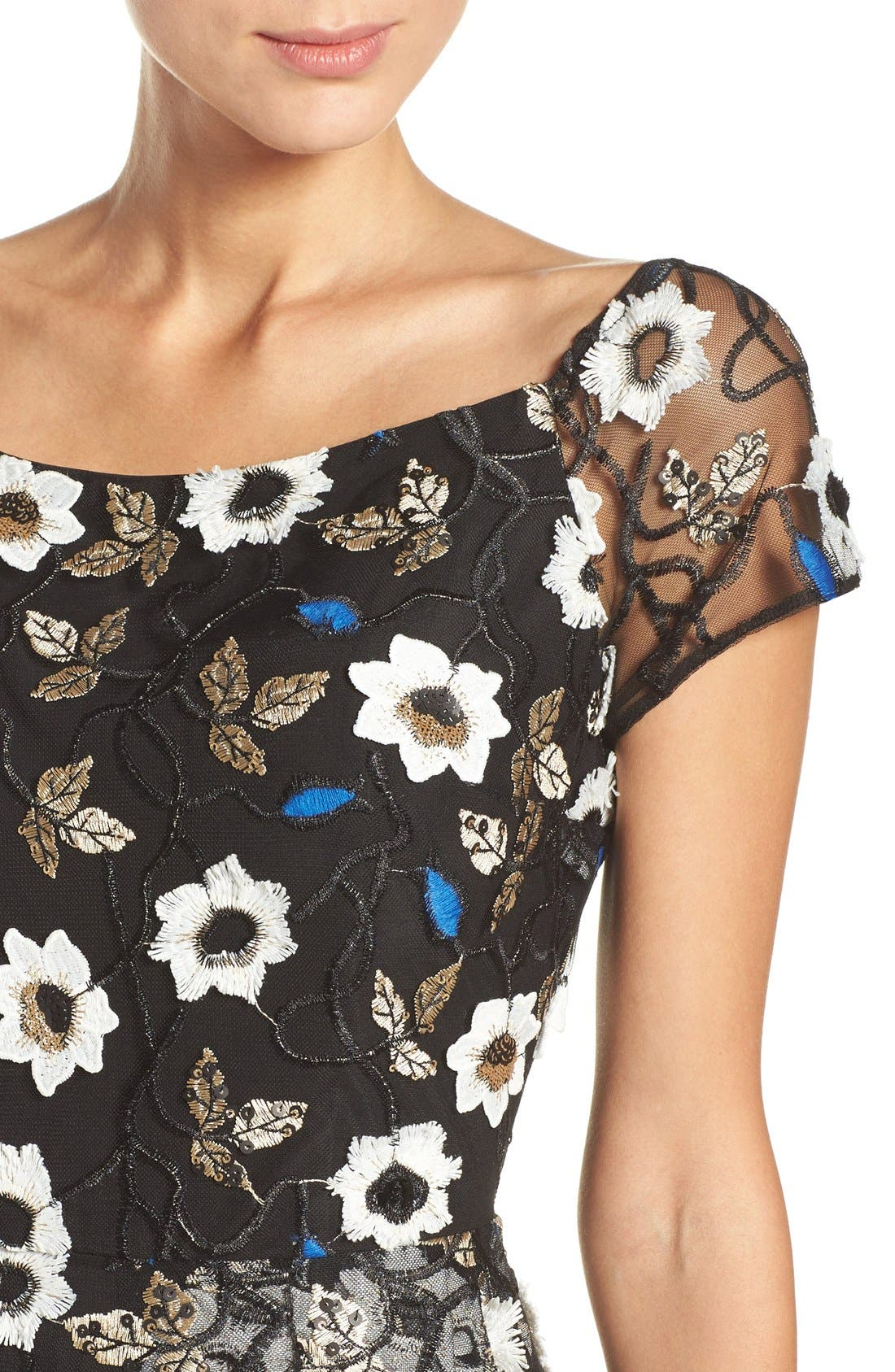Alternate Image 5  - ECI Sequin Embroidered Fit & Flare Dress